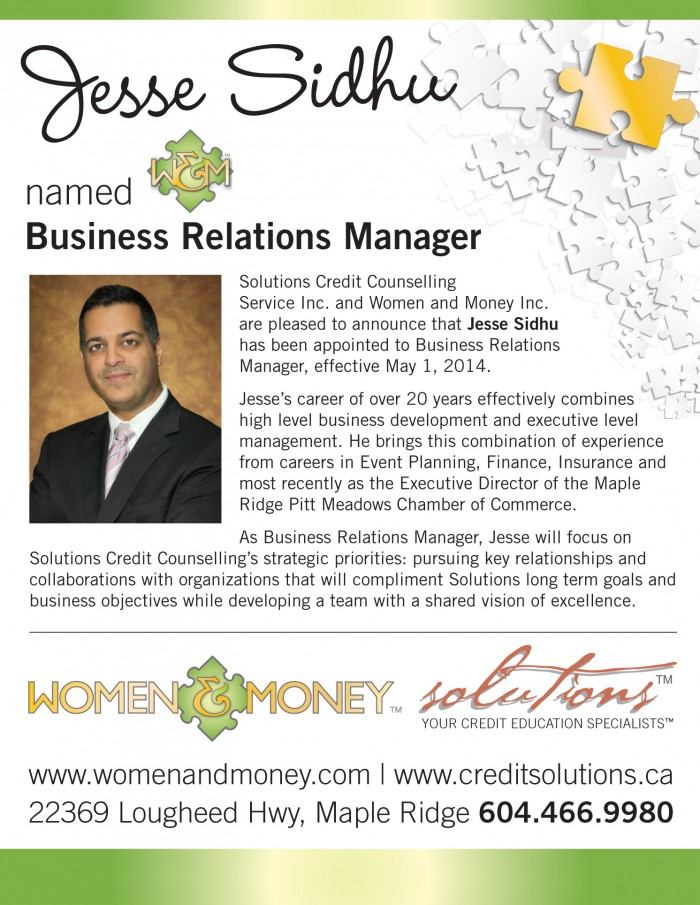Business Relations Manager Jesse Sidhu