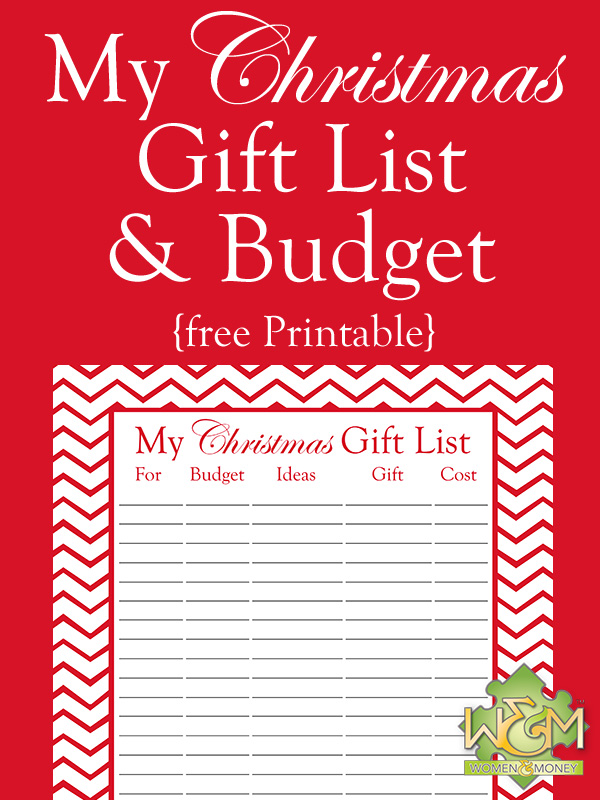 photograph about Christmas Gifts List Printable named Xmas Present Listing and Spending budget Printable - Females and Fiscal Inc.