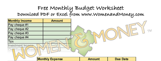 Creating a budget - womenandmoney.com