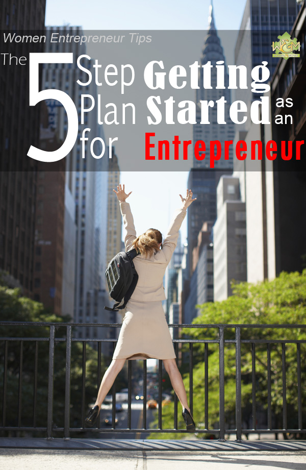 This is the best! 5 Step Plan for getting started as an entrepreneur - especially love step 5!
